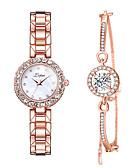 ราคาถูก นาฬิกาข้อมือ-สำหรับผู้หญิง นาฬิกาสร้อยข้อมือ นาฬิกาอิเล็กทรอนิกส์ (Quartz) ห่วงโซ่เทนนิส Cubic Zirconia เงิน / Rose Gold นาฬิกาใส่ลำลอง เลียนแบบเพชร ระบบอนาล็อก กำไล สง่างาม - สีดำ / สีเงิน ทองกุหลาบ สีทอง+สีดำ