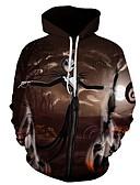 ราคาถูก เสื้อยืดและเสื้อกล้ามผู้ชาย-สำหรับผู้ชาย ขนาดพิเศษ ฮู้ด ซึ่งทำงานอยู่ / พื้นฐาน Hoodie 3D / คาร์แรคเตอร์ / กระโหลก