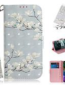 Χαμηλού Κόστους Θήκες iPhone-tok Για LG LG V40 / LG G8 Πορτοφόλι / Θήκη καρτών / με βάση στήριξης Πλήρης Θήκη Λουλούδι PU δέρμα