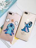 baratos Capinhas para iPhone-Capinha Para Apple iPhone XS / iPhone XR / iPhone XS Max Antichoque / Anti-poeira / Transparente Capa traseira Transparente / Desenho Animado TPU