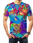 billige T-skjorter og singleter til herrer-Rund hals EU / USA størrelse T-skjorte Herre - 3D Regnbue / Kortermet