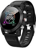 olcso Okos órák-Intelligens Watch Digitális Modern stílus Sportos Szilikon 30 m Vízálló Szívritmus monitorizálás Bluetooth Digitális Alkalmi Szabadtéri - Fekete Ezüst
