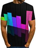 povoljno Stole za vjenčanje-Veći konfekcijski brojevi Majica s rukavima Muškarci Dnevno / Kauzalni 3D Okrugli izrez Kolaž Duga / Kratkih rukava