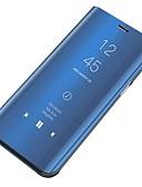 billige Samsung-tilbehør-Etui Til Samsung Galaxy S6 Støvtett / Speil / Flipp Heldekkende etui Ensfarget Hard PC