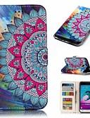 ราคาถูก เคสสำหรับโทรศัพท์มือถือ-Case สำหรับ Samsung Galaxy J3 (2016) Wallet / Card Holder / Flip ตัวกระเป๋าเต็ม ดอกไม้ Hard หนัง PU