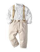 billige Sett med Gutter babyklær-Baby Gutt Fritid / Aktiv Trykt mønster Trykt mønster Langermet Normal Tøysett Hvit