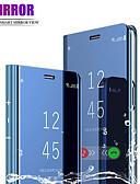baratos Cases & Capas-Capinha Para Samsung Galaxy Xiaomi Redmi Note 7 / Nota do Redmi 7 Galvanizado / Flip Capa Proteção Completa Sólido Rígida PU Leather