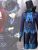 povoljno Lolita haljine-Inspirirana Crna Butler Ciel Phantomhive Anime Cosplay nošnje Japanski Cosplay Suits Suvremeno Kravata / Kaput / Bluza Za Muškarci / Žene / Top / Rukavice
