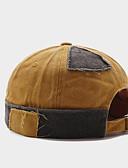 ราคาถูก หมวกสุภาพบุรุษ-สำหรับผู้ชาย สีพื้น ลายบล็อคสี ฝ้าย ซึ่งทำงานอยู่ พื้นฐาน สไตล์น่ารัก-หมวกหย่อน หมวกเบเรต์ ฤดูใบไม้ผลิ ทุกฤดู ส้ม สีน้ำเงินกรมท่า สีเหลือง