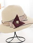 ราคาถูก หมวกสตรี-สำหรับผู้หญิง สีพื้น เส้นใยสังเคราะห์ พื้นฐาน-ดวงอาทิตย์หมวก สีน้ำตาล ขาว ผ้าขนสัตว์สีธรรมชาติ