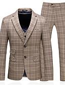 Χαμηλού Κόστους Αντρικά Μπλέιζερ & Κοστούμια-Ανδρικά Στολές, Μονόχρωμο Κλασικό Πέτο Πολυεστέρας Χακί / Λεπτό