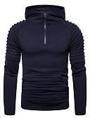 ราคาถูก เสื้อฮู้ดและเสื้อกันหนาว-สำหรับผู้ชาย ไม่เป็นทางการ Hoodie สีพื้น