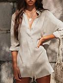 Χαμηλού Κόστους Γυναικείες μακριές και μίνι ολόσωμες φόρμες-Γυναικεία Κομψό στυλ street Μπεζ Ολόσωμα, Μονόχρωμο Τ M L