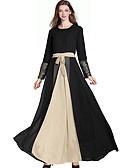 olcso Női ruhák-Hagyományos és kulturális viselet Abaya Női Hétköznapi viselet Poliészter Kombinált Hosszú ujj Abaja