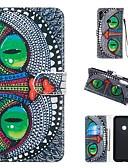 baratos Capinhas para Huawei-Capinha Para Huawei Honra 10 Lite / Huawei Mate 20 lite / Huawei Mate 20 pro Carteira / Porta-Cartão / Com Suporte Capa Proteção Completa Animal Rígida PU Leather
