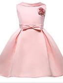 olcso Virágszóró kislány ruhák-Hercegnő Térdig érő Virágoslány ruha - Poliészter Ujjatlan Ékszer val vel Rátétek / Csokor által LAN TING Express