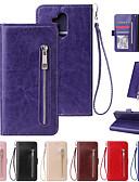 baratos Capinhas para Huawei-Capinha Para Huawei Huawei P20 / Huawei P20 Pro / Huawei P20 lite Carteira / Porta-Cartão / Antichoque Capa Proteção Completa Sólido / Linhas / Ondas PU Leather