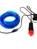 billige Smartwatch Bands-2m fleksibel neon lett bil el wire tau rør led stripe vanntett fest dekor lampe med 12v controller