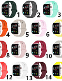 billige Smartwatch Bands-Klokkerem til Apple Watch Series 5/4/3/2/1 Apple Sportsrem Silikon Håndleddsrem