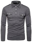 povoljno Muške polo majice-Veličina EU / SAD Polo Muškarci - Osnovni Dnevni Nosite Lan Jednobojni Crn / Dugih rukava