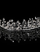 זול אביזרים-סגסוגת Tiaras / רצועות / מצנפת עם כפתורים / פרטים מפנינה / קריסטל / ריינסטון חלק 1 חתונה / מסיבה\אירוע ערב כיסוי ראש