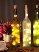 povoljno Nehrđajući čelik-2m vino boca pluta string svjetla 20 leds smd 0603 toplo bijelo / bijelo / više boja vodootporno / party / vjenčanje / Božić / Halloween baterije powered 1pc
