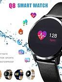 billige Digitale klokker-q8 smart klokke oled fargeskjerm smartwatch menn fitness tracker hjertefrekvensmåler smart armbånd