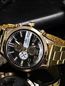 baratos Relógios-Homens Relógio Elegante Quartzo Relógio Casual Analógico Clássico - Preto Dourado