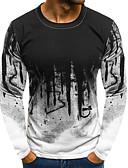 Χαμηλού Κόστους Ανδρικά μπλουζάκια και φανελάκια-Ανδρικά T-shirt Βασικό Συνδυασμός Χρωμάτων Λευκό