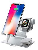"""זול Smartwws הרכבות & מחזיקי-2 ב 1 טלפון סלולרי לצפות עומד עומד הלוח מחזיק עבור מתג nintend iPhone iwatch (38 מ""""מ& 42 מ""""מ) ipadtablet (4-13 אינץ ')"""