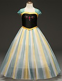 Χαμηλού Κόστους Φορέματα για κορίτσια-Παιδιά Νήπιο Κοριτσίστικα Βίντατζ Γλυκός Συνδυασμός Χρωμάτων Εξώπλατο Δίχτυ Κοντομάνικο Μίντι Φόρεμα Μαύρο