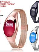 baratos Smart watch-Relógio inteligente Digital Estilo Moderno Esportivo 30 m Impermeável Monitor de Batimento Cardíaco Bluetooth Digital Casual Ao ar Livre - Preto Dourado Prateado