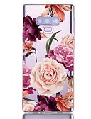 baratos Cases & Capas-Capinha Para Samsung Galaxy Note 9 Antichoque / Transparente / Estampada Capa traseira Flor TPU
