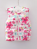 povoljno Vanjska odjeća za bebe-Dijete Djevojčice Osnovni Cvjetni print Kolaž Normalne dužine Pernata i pamučna podstava Red