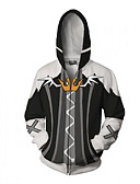 baratos Vestidos para Meninas-Kingdom Hearts Fantasias Casaco Terylene Estampado Para Homens / Mulheres