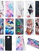 Χαμηλού Κόστους Θήκη Samsung-tok Για Sony Sony Xperia L3 / Sony Xperia 10 / Sony Xperia 10 Plus Πορτοφόλι / Θήκη καρτών / με βάση στήριξης Πλήρης Θήκη Ζώο / Μάρμαρο Σκληρή PU δέρμα