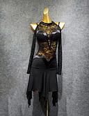 ราคาถูก เมกซิเดรส-ชุดเต้นละติน ชุดเดรสต่างๆ สำหรับผู้หญิง Performance สแปนเด็กซ์ ลูกไม้ / กระโปรงระบาย แขนยาว ชุดเดรส