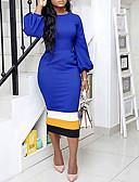 Χαμηλού Κόστους Θήκες iPhone-Γυναικεία Βασικό Εφαρμοστό Φόρεμα - Μονόχρωμο, Δαντέλα Μίντι