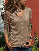 povoljno Ženski džemperi-Žene Jednobojni Dugih rukava Kardigan, V izrez Crn / Svijetlosiva / Tamno siva S / M / L