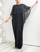 povoljno Večernje haljine-A-kroj Ovalni izrez Do poda Šifon Formalna večer Haljina s Drapirano po LAN TING Express