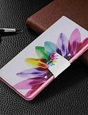 baratos Capinhas para Xiaomi-Capinha Para Xiaomi Xiaomi Redmi 6 Pro / Xiaomi Redmi Note 7 / Xiaomi Redmi 7 Carteira / Porta-Cartão / Com Suporte Capa Proteção Completa Flor Rígida PU Leather