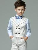 お買い得  男児 ウェアセット-子供 男の子 ベーシック ソリッド 長袖 レギュラー レギュラー アンサンブル ホワイト