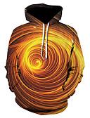 olcso Férfi pólók és pulóverek-Férfi Alap Kapucnis felsőrész 3D