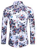 זול חולצות לגברים-פרחוני צווארון קלאסי בוהו / סגנון רחוב חולצה - בגדי ריקוד גברים דפוס קשת