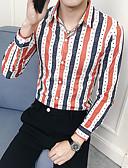 billige Skjorter-Skjorte Herre - Stripet Grunnleggende Blå