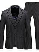 זול בלייזרים וחליפות לגברים-בגדי ריקוד גברים אפור כהה US40 / UK40 / EU48 US42 / UK42 / EU50 US44 / UK44 / EU52 חליפות אחיד דש קלאסי רזה