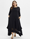 olcso Női ruhák-Női Elegáns A-vonalú Ruha Egyszínű Aszimmetrikus