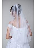 ราคาถูก ม่านสำหรับงานแต่งงาน-ชั้นเดียว ง่าย / รูปแบบคลาสสิก ผ้าคลุมหน้าชุดแต่งงาน Elbow Veils กับ ไม่มีลาย Tulle