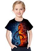 povoljno Majice za djevojčice-Djeca Dijete koje je tek prohodalo Djevojčice Aktivan Osnovni Geometrijski oblici Print Color block Print Kratkih rukava Majica s kratkim rukavima Crn