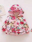 billige Sett med babyklær-Baby Jente Aktiv / Grunnleggende Blomstret / Lapper Lapper / Trykt mønster Normal Dun- og bomullsfôret Rosa